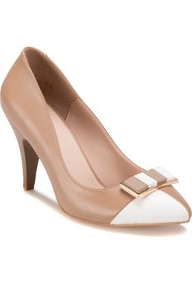 Butigo S898 Vizon Beyaz Kadın Gova Ayakkabı