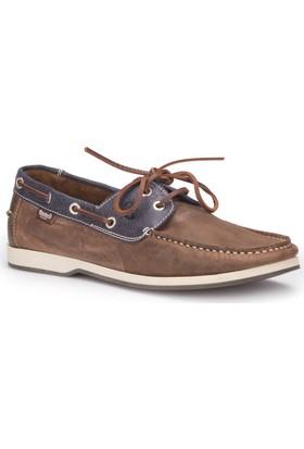 Dockers By Gerli 222500 Kahverengi Koyu Lacivert Erkek Deri Marin Ayakkabı