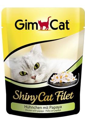 Gimcat Shinycat Pouch Tavuklu Papayalı Kedi Maması 70Gr