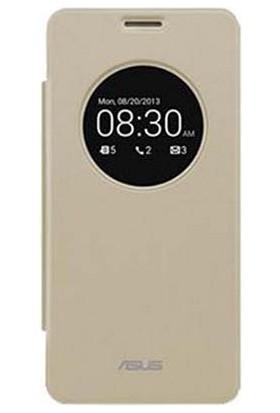 Binbirteknoloji Asus Zenfone 5 Vıew Flıp Cover - Mat Altın