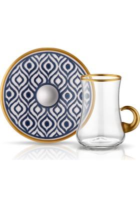 Koleksiyon Dervısh Kulplu Çay Setı 6Lı Ikat Antrasıt