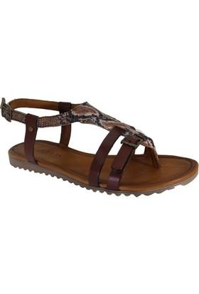 Despina Vandi Pndr 512-1 Günlük Kadın Deri Sandalet