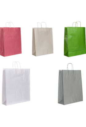 Menteşoğlu Kağıtçılık Beyaz Kraft Kağıt Poşet 40 x 50 x 13 cm 50 adet