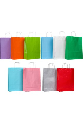 Menteşoğlu Kağıtçılık Beyaz Kraft Kağıt Poşet 32 x 41 x 12 cm 50 adet