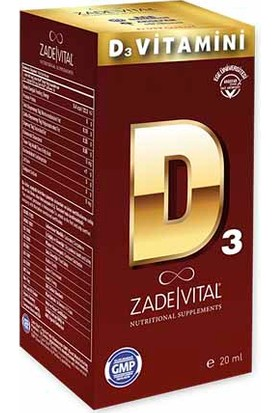 Zade Vital D3 Vitamini 15ml