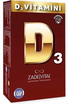 Zade Vital Vitamin D3 Blister 30 Kapsül