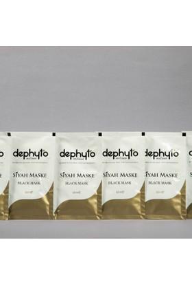 Dephyto 6 Adet 12 Ml Yıkanabilir Siyah Maske