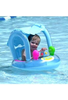 Altis Güneş Korumalı Tenteli Oyuncaklı Oturaklı Baby Float / MAVİ RENK