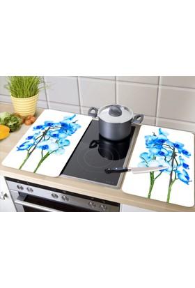 GBmotion 2'li Mavi Orkide Ocak Koruyucu 30x52