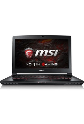 "MSI GS63 7RE(Stealth Pro)-029XTR Intel Core i7 7700HQ 8GB 1TB + 128GB SSD GTX1050Ti Freedos 15.6"" FHD Taşınabilir Bilgisayar"