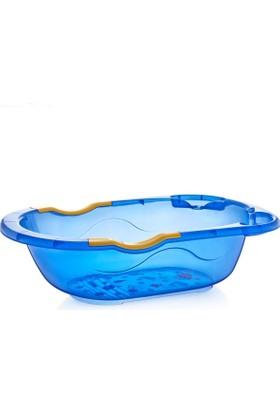 Baby Jem Desenli Giderli Şeffaf Banyo Küveti Mavi