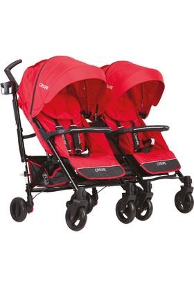 Casual Vista Trona İkiz Travel Sistem Bebek Arabası Kırmızı