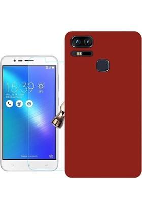 KılıfShop Asus Zenfone 3 Zoom ZE553KL Slim Rubber Kılıf + Ekran Koruyucu