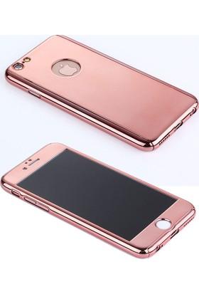 Case 4U Apple iPhone 6 / 6S Plus Kılıf Aynalı 360 Derece Korumalı Rose Gold