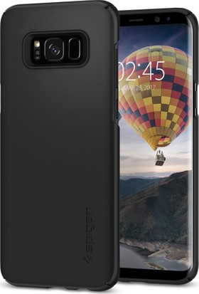 Spigen Samsung Galaxy S8 Plus Kılıf Thin Fit Black (SF coated) - 571CS21676