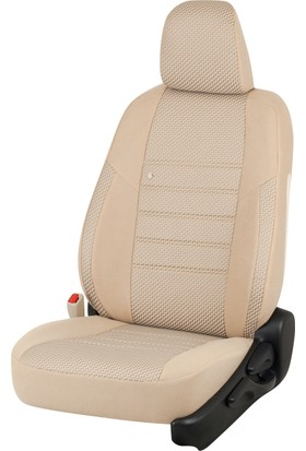 Otom Fiat Doblo Yeni 2010-Sonrası J-132 Krem Araca Özel Koltuk Kılıfı