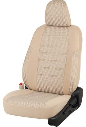 Otom Seat Ibiza 2009-Sonrası J-132 Krem Araca Özel Koltuk Kılıfı