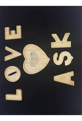 Acar Bambu Çerezlik Love Aşk Seti