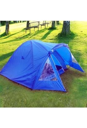 Gadahome Extreme 4 P Koyu Mavi Çadır (240+80*210*140 Cm)