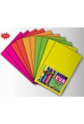 Rubenis Karışık Renk Fosforlu (Neon) Eva 10 Adet 20X30 Cm