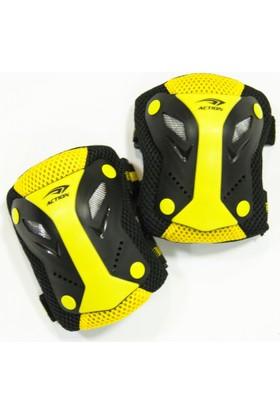 Action Dizlik - Dirsekli Koruyucu Sarı Renk 3'lü Set