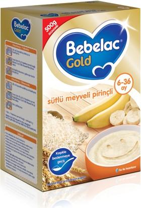 Bebelac Sütlü Meyveli Pirinçli Tahıl Bazlı Kaşık Maması 500 gr