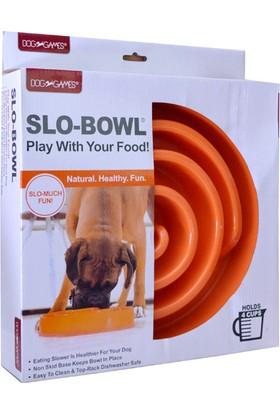 Dog Games Slo-Bowl Yavaş Yeme İçin Köpek Mama Kabı 4 Kap Turuncu