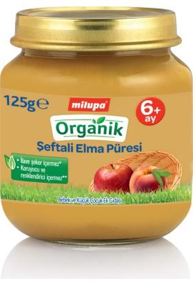 Milupa Organik Şeftali Elma Püreli Kavanoz Maması 125 gr