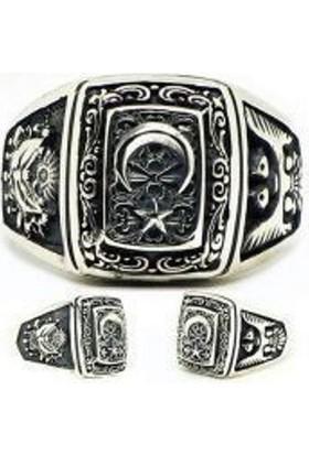 Takıhan 925 Ayar Gümüş Devlet Bahçeli Yüzüğü