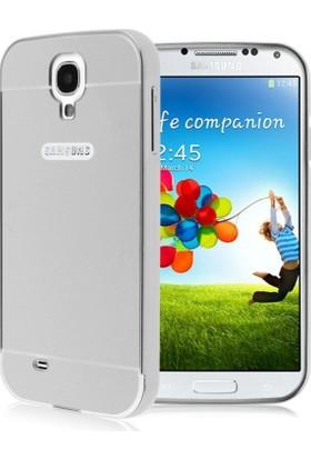 Alaca Samsung Galaxy S4 Kılıf Aynalı Metal Bumper + Cam