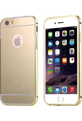 Alaca Apple iPhone 7 Plus Kılıf Aynalı Metal Bumper Cerceve 5.5