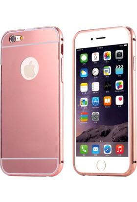 Alaca Apple iPhone 7 Kılıf Aynalı Metal Bumper Cerceve