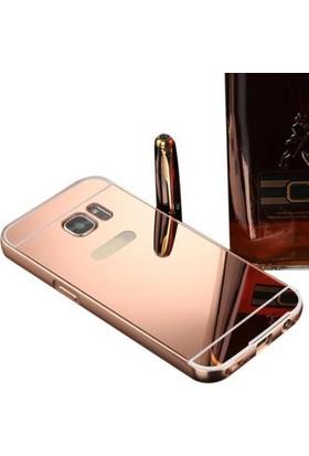 Alaca Samsung Galaxy S7 Kılıf Aynalı Metal Bumper Cerceve