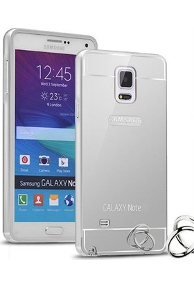 Alaca Samsung Galaxy Note 3 Kılıf Aynalı Metal Bumper + Cam