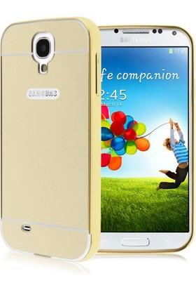 Alaca Samsung Galaxy S4 Kılıf Aynalı Metal Bumper Cerceve