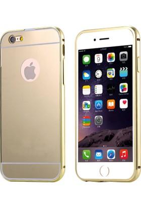 Alaca Apple iPhone 6 Kılıf Aynalı Metal Bumper Cerceve