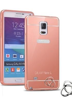 Alaca Samsung Galaxy Note 4 Kılıf Aynalı Metal Bumper Cerceve