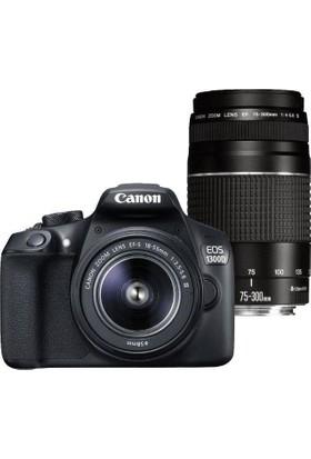 Canon EOS 1300D 18-55 mm + 75-300 mm DC Double Lens Dijital SLR Fotoğraf Makinesi
