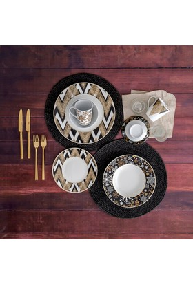 Güral Porselen Bone 24 Parça 6 Kişilik Yemek Takımı