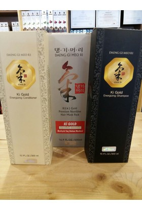 Ki Gold Şampuan + Saç Maskesi + Saç Kremi 3 Set