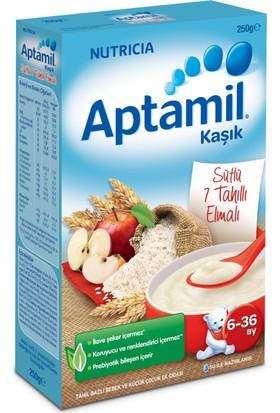Aptamil Kaşık Sütlü 7 Tahıllı Elmalı Tahıl Bazlı Kaşık Maması 250 gr