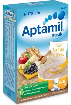 Aptamil Sütlü Tam Tahıllı Kuş Üzümlü Tahıl Bazlı Kaşık Maması 250 gr