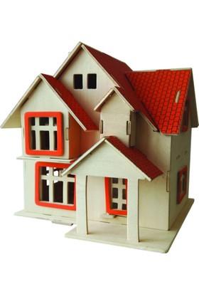 İdeal 3D Büyük Ahşap Maket Sıcak Ev