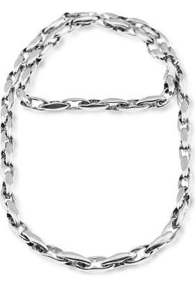 Silver Plus Gemici Boyunluk Gümüş Zincir (50 Cm)