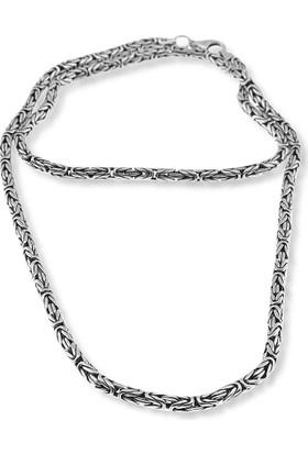 Silver Plus Boyunluk Gümüş Kral Zincir (60 Cm)