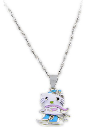 Silver Plus Hello Kitty Mineli Gümüş Bayan Kolye