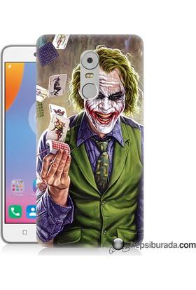 Teknomeg Lenovo K6 Note Kılıf Kapak Kartlı Joker Baskılı Silikon