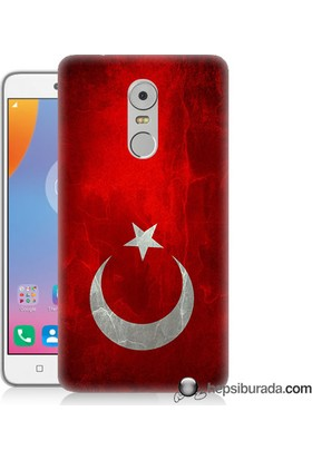 Teknomeg Lenovo K6 Note Kılıf Kapak Türkiye Bayrağı Baskılı Silikon