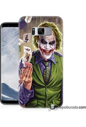 Teknomeg Samsung Galaxy S8 Kılıf Kapak Kartlı Joker Baskılı Silikon