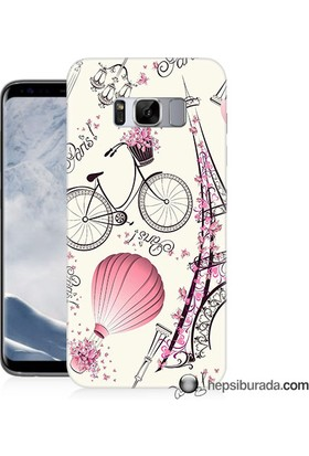 Teknomeg Samsung Galaxy S8 Kapak Kılıf Paris Baskılı Silikon